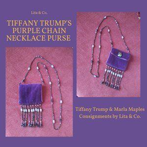 Tiffany Trump's Purple Velvet Necklace Bag.